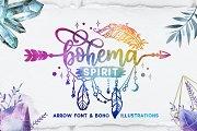 Bohema Spirit font and illustrations
