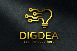 Digital Idea Logo Template