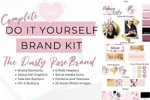 Canva Pink Website Branding Kit