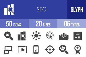 50 SEO Glyph Icons
