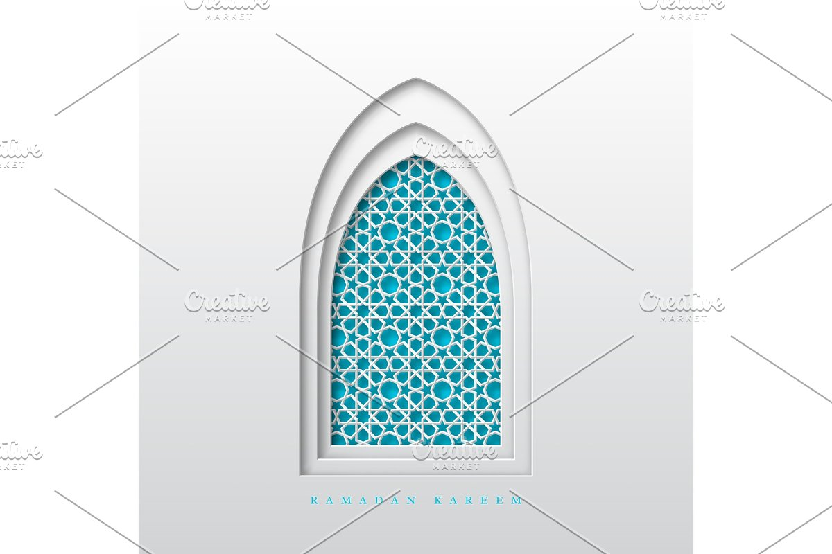 Ramadan Kareem greeting background. on jerusalem window, jesus window, valentines day window, thank you window, fashion window, new year window,