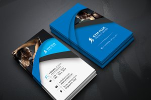 Business Card Of Gym Fitness