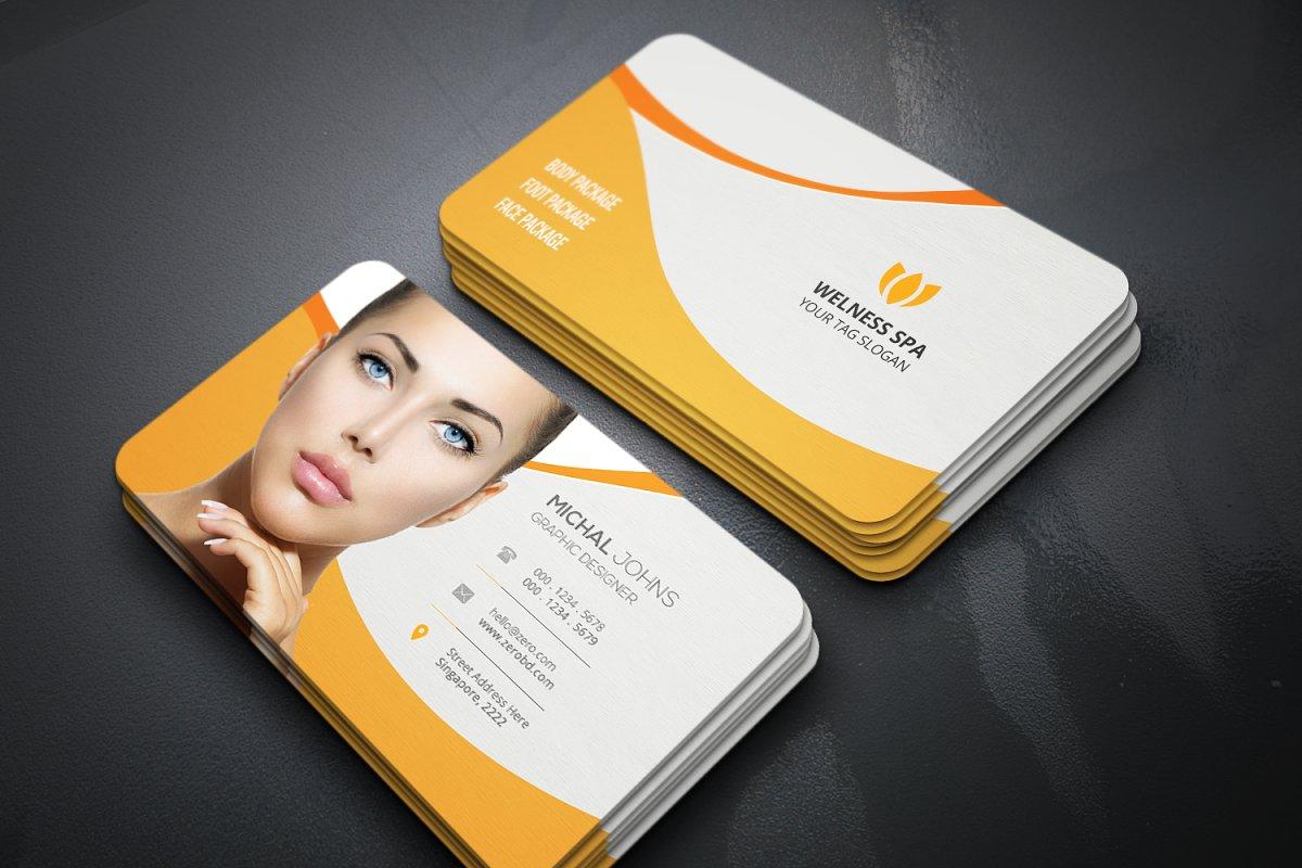 Spa Shop Business Cards