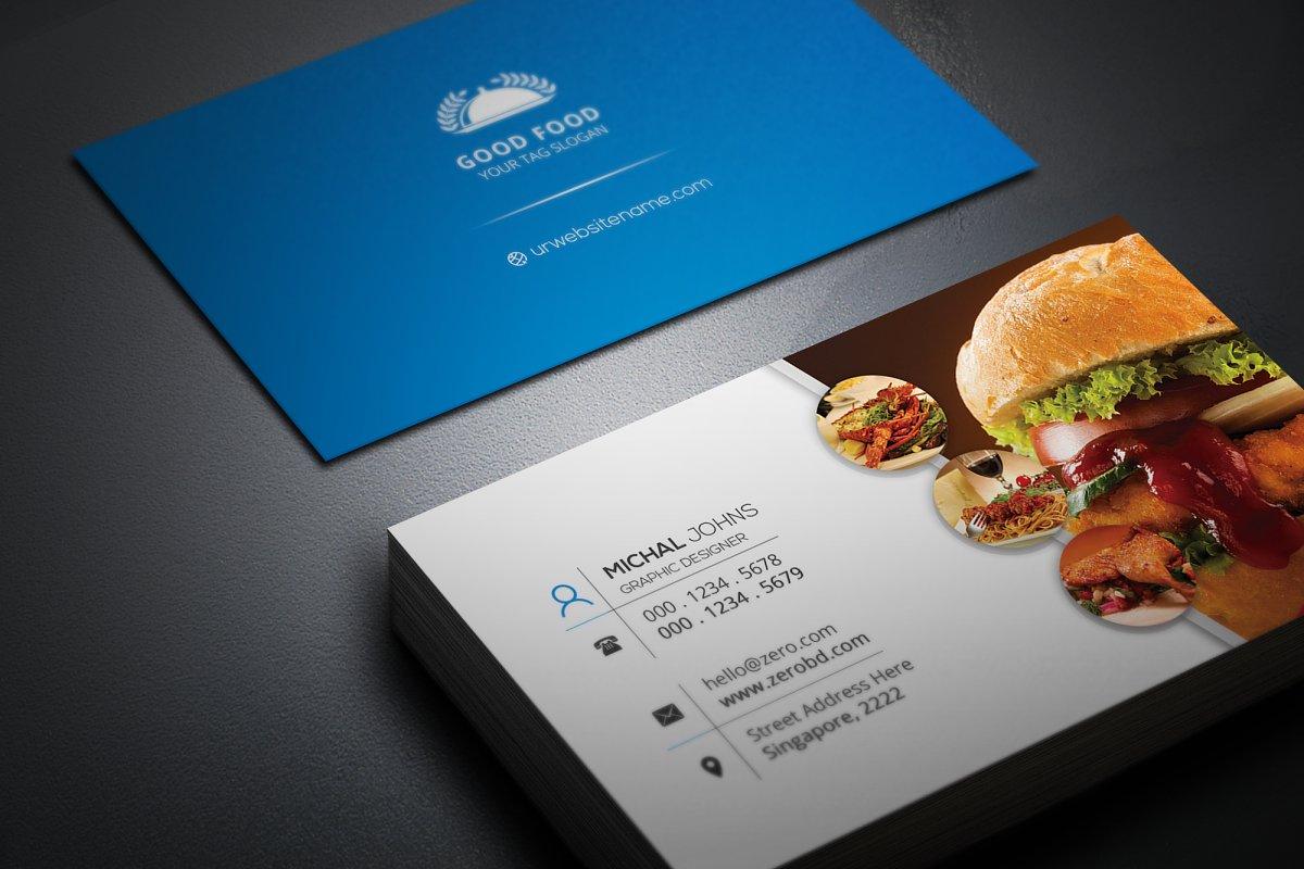 Food Restaurant Business Cards