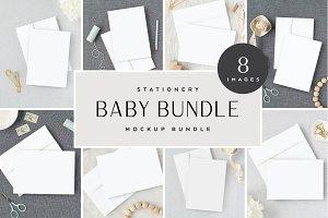 Baby Themed Stationery Mockup Bundle