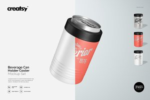 Beverage Can Holder Cooler Mockup