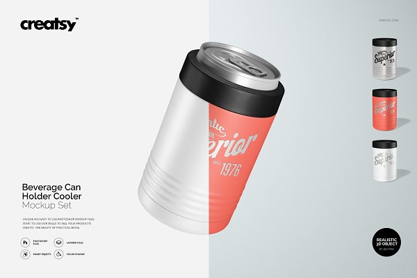 Graphics - Beverage Can Holder Cooler Mockup