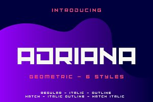 Adriana Font Family (6 Styles)