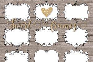 Vector Swirl Frames clipart