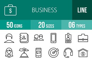 50 Business Line Icons