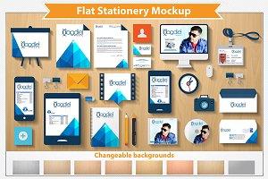 Flat Stationery Mockup