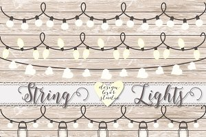 Vector Lights Clipart String