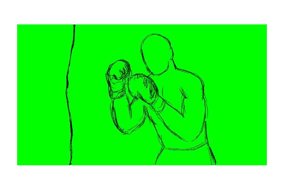 Animation Boxer Throwing Punches