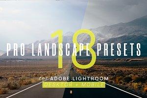18 Pro Landscape Presets Lightroom