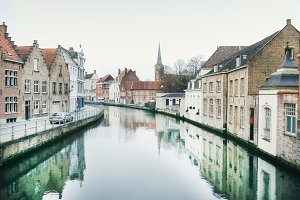 Medieval channel in Bruges