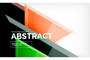 Tech futuristic geometric 3d shapes