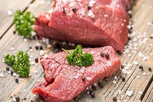Beef meat slice