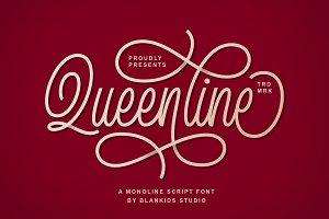 Queenline Script Font