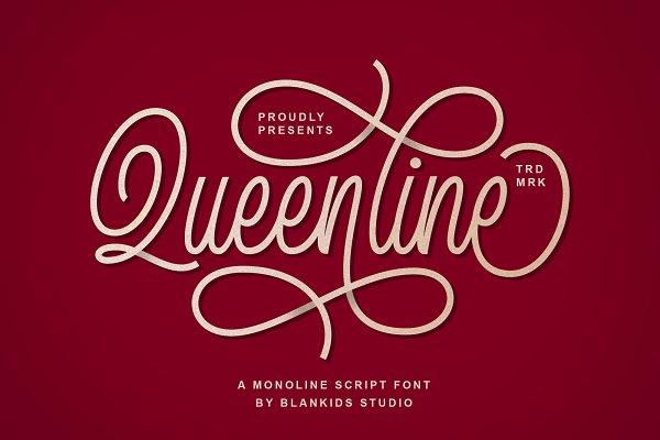 Fonts: Blankids Studio - Queenline Script Font