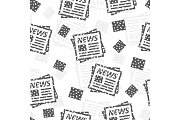 Seamless pattern with newspaper