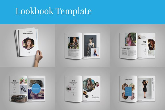 lookbook catalogs template brochure templates creative market
