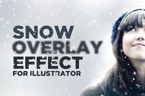 Snowy Overlay Effect for Illustrato…
