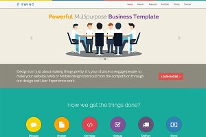 SWING - One Page Responsive Template