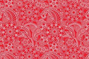 Oriental flowers pattern