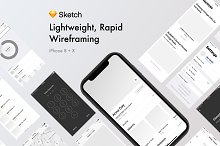 Rapid Wireframing Kit Noir by  in Wireframe Kits