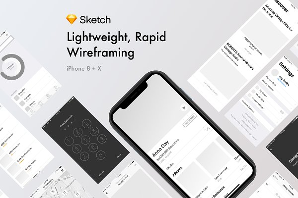 Website Templates - Rapid Wireframing Kit Noir