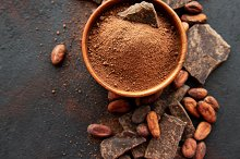 Cocoa powder and beans by  in Food & Drink