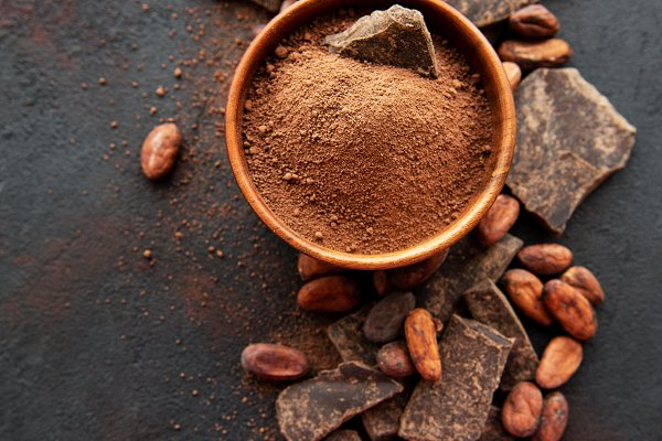 Stock Photos: Almaje - Cocoa powder and beans