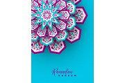 Ramadan Kareem greeting poster.