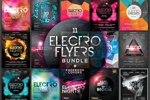 Electro Flyers Bundle + FB Covers