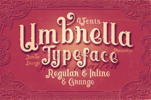 Umbrella - 4 Display Fonts