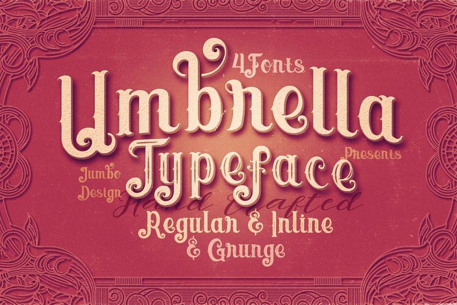 Umbrella - 4 Display Fonts