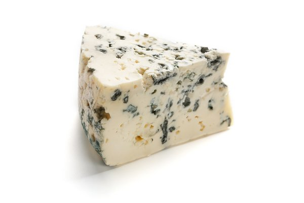 Stock Photos: Prostock-Studio - Blue cheese on white.