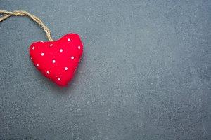 Heart on slate background