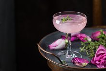 Light pink rose cocktail by  in Food & Drink