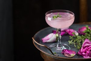 Light pink rose cocktail