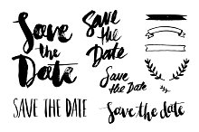save the date overlay vector