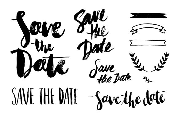 Save the date overlay vector objects creative market for Save the date vector