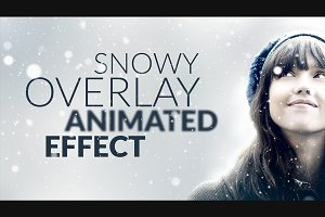 Snowy Animated Overlay in Photoshop