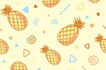 Three patterns with pineapples
