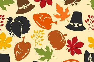 Thanksgiving pattern and backgrounds