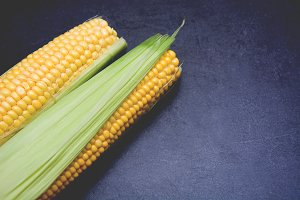 Corn on slate table