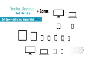 Electronic devices icon set. Vector