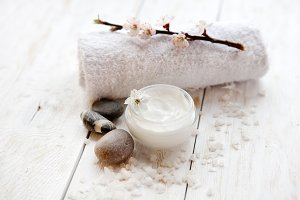 face cream with apricot blossom