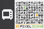 99 pixel art icons (set #2)