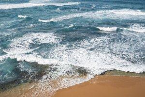 Blue sea and sand beach